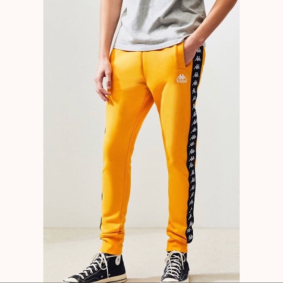 ba38b3af5a KAPPA Mens Alan Slim Sweatpants, Gold Size Small NWT
